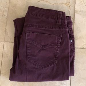 Wine Colored Sonoma Straight Leg Jeans